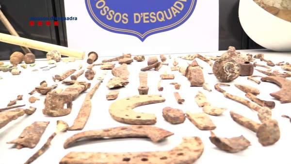Piezas expoliadas en un yacimiento íbero de Ulldecona (Tarragona)