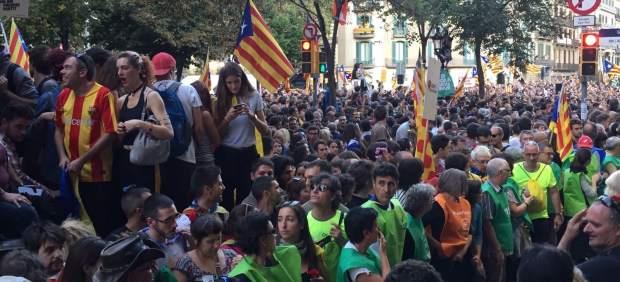 Manifestación contra las detenciones de la Guardia Civil por el referéndum