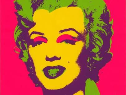 Serigrafía sobre papel de Marilyn Monroe (1967) obra de Andy Warhol.