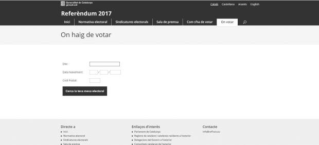 Falsa web del referéndum garantiespelreferendum.Cat