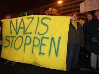 Protestas por la entrada en el Reichstag de la ultraderecha