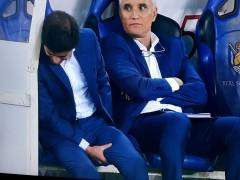 Marcelino se lesiona al celebrar el gol de la victoria en Anoeta