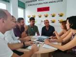 Reunión bomberos aeropuerto con unidos podemos y diputada provincial privatizaci