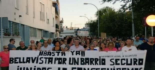 Manifestación en Bellavista contra la inseguridad
