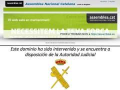 La entidad independentista ANC denuncia el bloqueo de su web