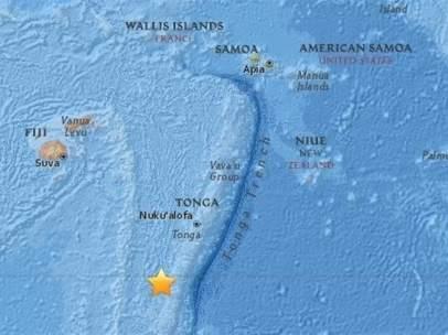 Terremoto de magnitud 6,4 al sur de Fiyi y Tonga