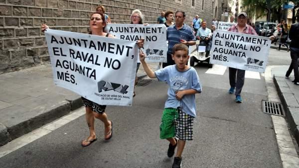 Manifestación contra narcopisos