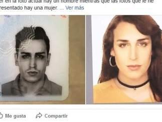 Valeria, en la foto de su DNI y en persona