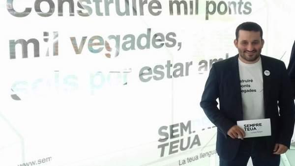 Vicent Marzà en la presentación de la campaña de fomento del valenciano