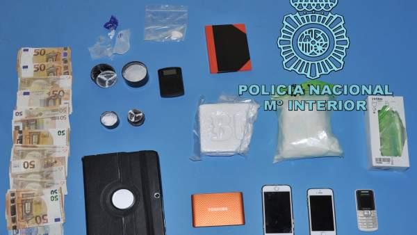 Burgos.- Objetos incautados en la Operación Pack