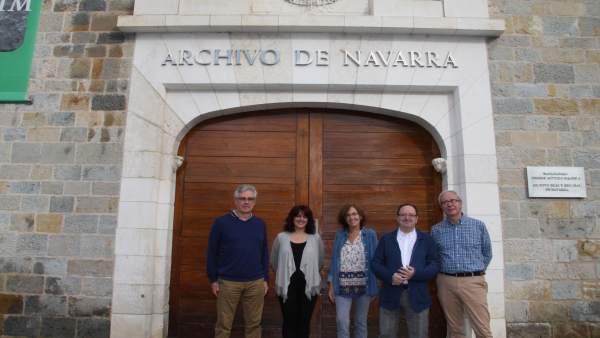 Peio Leiñena, Mª Pilar Los Arcos, Jaione Landaberea, Jon Bagüés y Joaquín Llanso