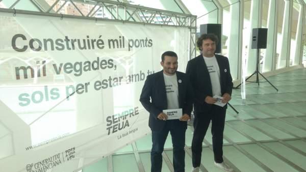 Vicent Marzà y Rubén Trenzano presentan la campaña de promoción del valenciano