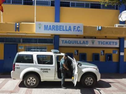 Detención del presidente del Marbella F.C.