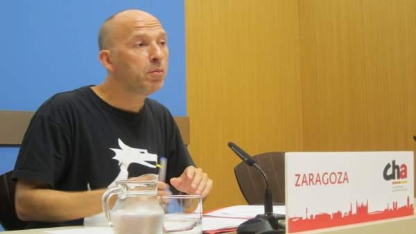 El portavoz de CHA, Carmelo Asensio, defenderá esta propuesta en el pleno