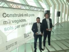 Vicent Marzà i Rubén Trenzano presenten la campanya de promoció del valencià