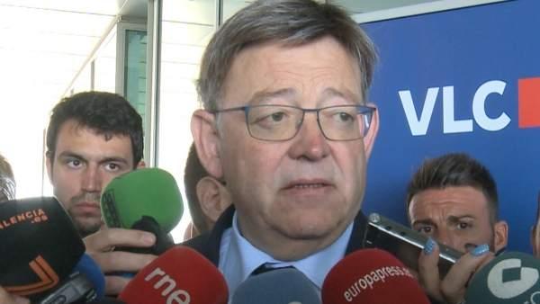 1 Puig espera que la setmana vinent s'aborde el problema territorial incloent el finançament valencià