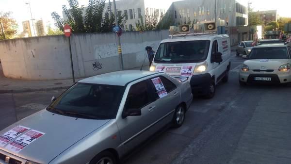 Caravana de delegados sindicales por el convenio de hostelería