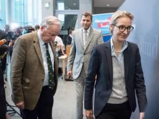 Alice Weidel y Alexander Gauland, ambos del ultraderechista AfD.