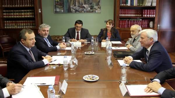 Gustavo Alcalde recibe al vicepresidente primero de Serbia, Ivica Dacic