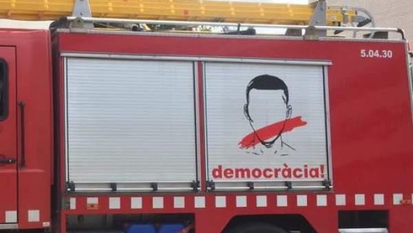 Camión de Bombers de Barcelona.
