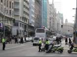 Cortes de tráfico en Gran Vía de Madrid por Navidad