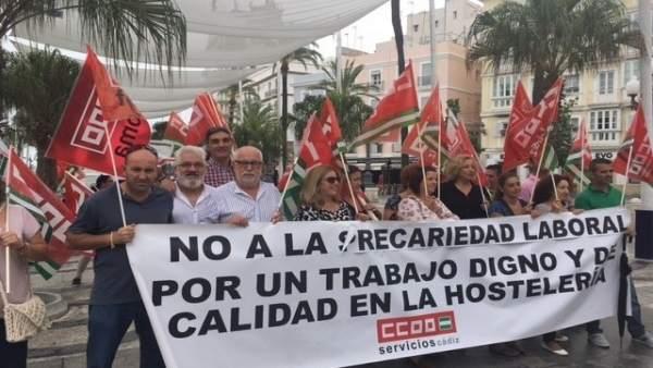 IU contra la precariedad de la hostelería de la provincia