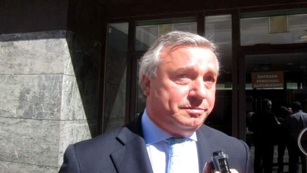 Andrés Martín de Paz, tras declarar en el juzgado.