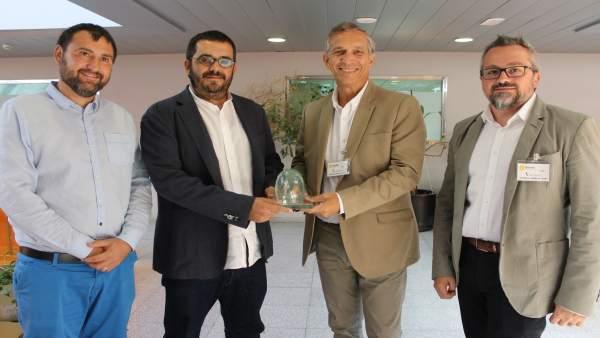 Vidal y el presidente de Ecovidrio