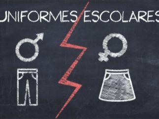 Uniformes escolares diferenciados por sexo