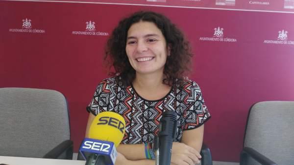 La viceportavoz de Ganemos Córdoba en el Ayuntamiento cordobés Vicky López