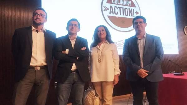 Autoridades en la presentación de 'Culinary Action!'