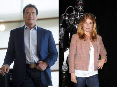 Arnold Schwarzenegger y Linda Hamilton