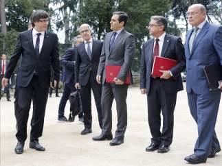 Carles Puigdemont y José Antonio Nieto, antes de la Junta de Seguridad