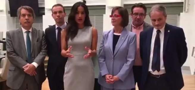 Captura de pantalla del vídeo subido por la concejala de C's.