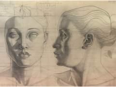 Cabezas de frente y perfil, 1945