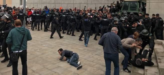 Punto de votación del presidente Puigdemont