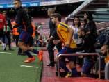 Jordi Alba con la Estelada en la camiseta