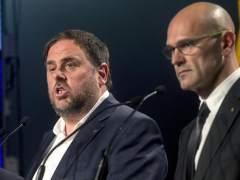 Oriol Junqueras, Raül Romeva y Jordi Turull.