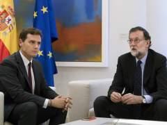 Rajoy recibe en la Moncloa a Rivera