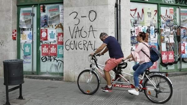 Convocatoria de huelga general en Cataluña