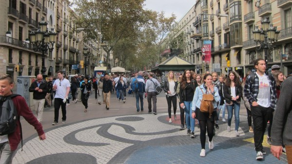 Derrumbe turístico en Cataluña