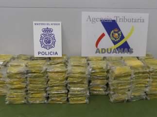 Cocaína incautada en Algeciras