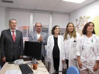 Lambán y Celaya han visitado hoy la Unidad de Cuidados Paliativos Pediátricos