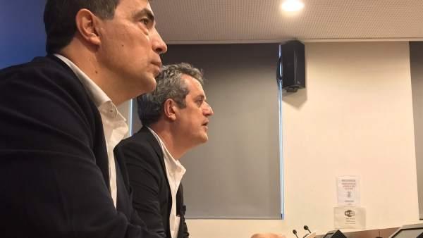 El exdirector de los Mossos, Pere Soler, y el conseller de Interior, Joaquim Forn