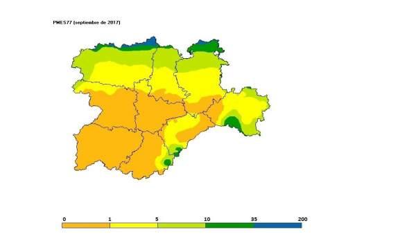 Cuadro descriptivo de las temperaturas de septiembre en CyL