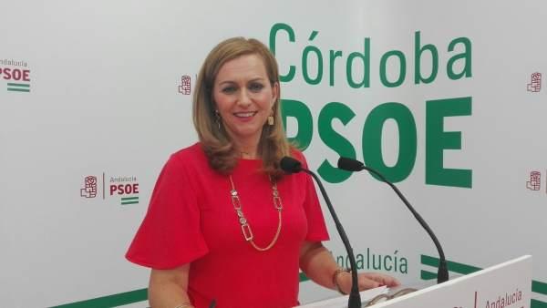 La diputada nacional del PSOE por Córdoba, María Jesús Serrano