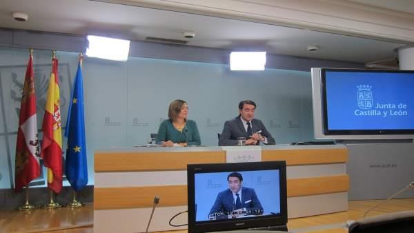 Marcos y Suárez Quiñones tras el Consejo de Gobierno