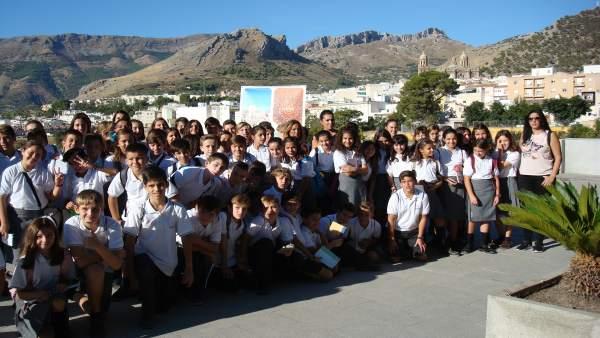 Escolares en el 'Disfruta Jaén capital'