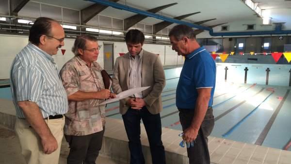 Visita de Guevara a las instalaciones.