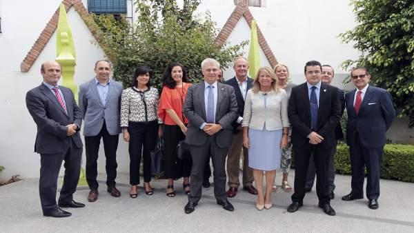 Muñoz con directores de hoteles marbella turismo